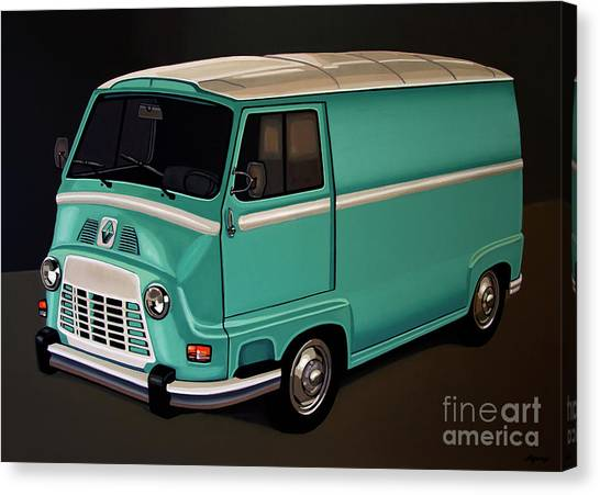 Realism Art Canvas Print - Renault Estafette 1959 Painting by Paul Meijering