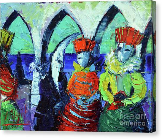 San Marco Canvas Print - Rendez-vous In Venice by Mona Edulesco