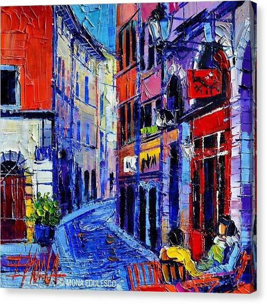 Instagood Canvas Print - rendez-vous In Vieux Lyon 25x25 Cm by Mona Edulesco