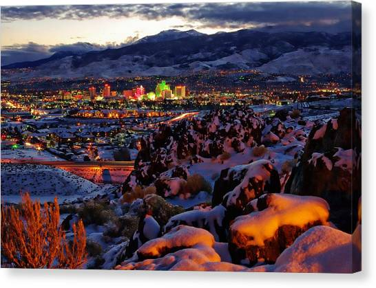 Interstates Canvas Print - Reno Clearing Snowfall by Scott McGuire