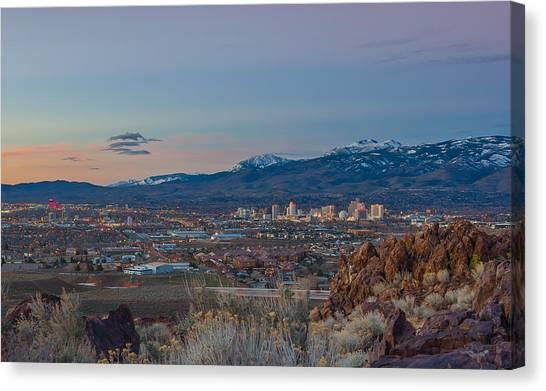 Interstates Canvas Print - Reno Spring Sunrise by Scott McGuire