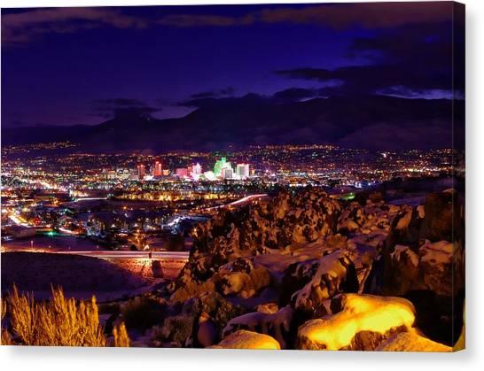 Interstates Canvas Print - Reno Winter  by Scott McGuire