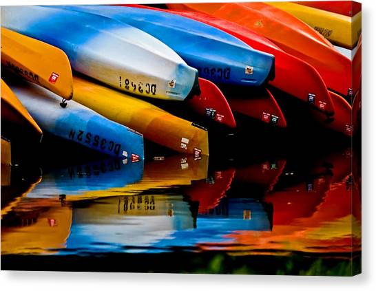 Rental Canoes Canvas Print