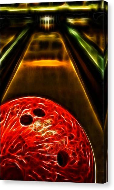 Bowling Alley Canvas Print - Rental by Joetta West