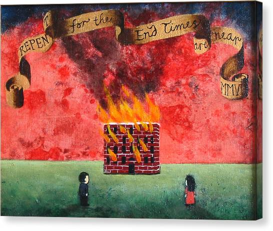 Repent For The End Times Are Near Canvas Print by Pauline Lim