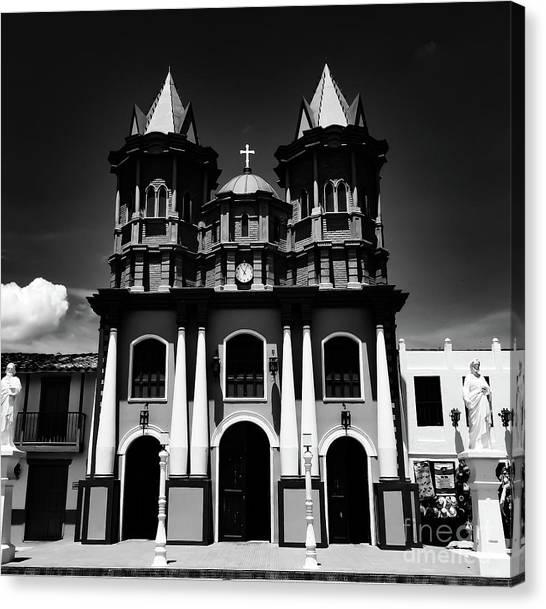 Replica Church In El Penol Canvas Print