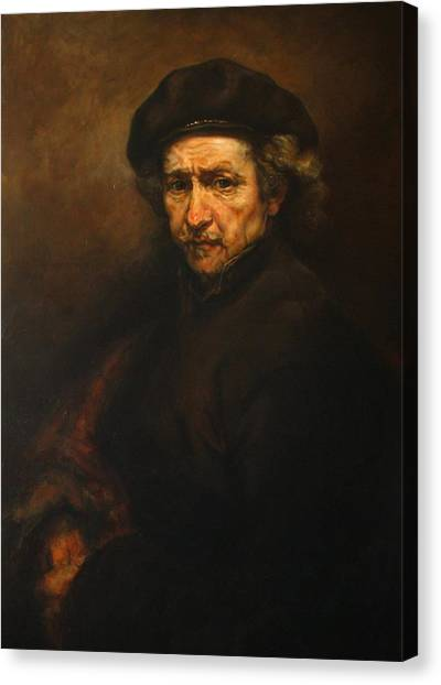 Replica Of Rembrandt's Self-portrait Canvas Print
