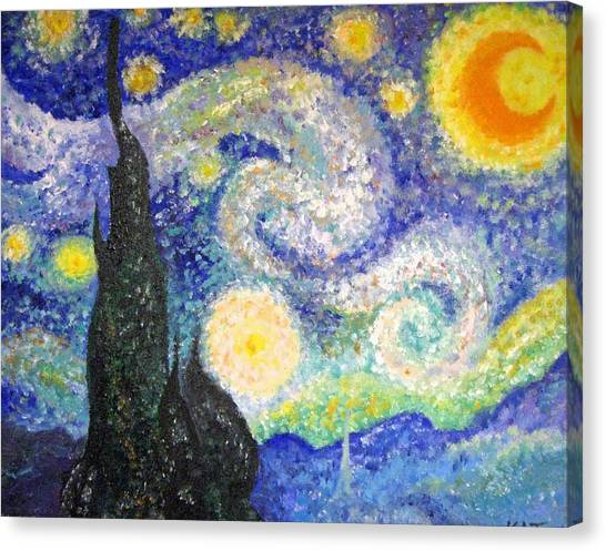 Replica Of Van Gogh Canvas Print by Katerina Wagner