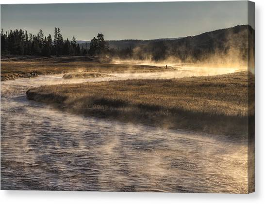 Yellowstone National Park Canvas Print - Repose Of Nature by Mark Kiver
