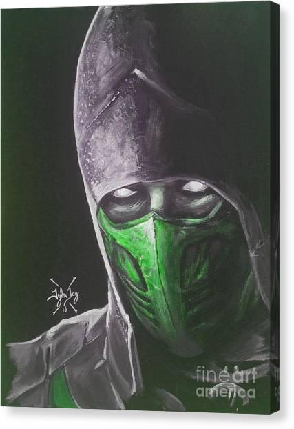Mortal Kombat Canvas Print - Reptile by Tyler Haddox