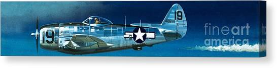 Aircraft Canvas Print - Republic P-47n Thunderbolt by Wilf Hardy