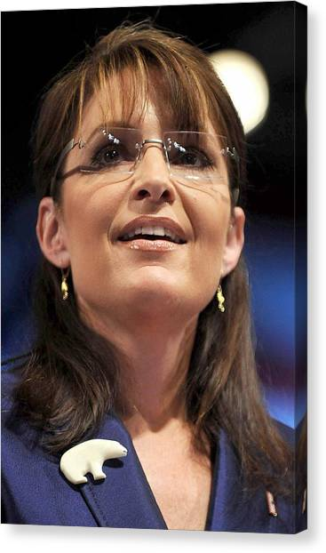 Sarah Palin Canvas Print - Republican Vice Presidential Candidate by Everett