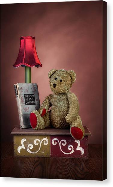 Teddy Bears Canvas Print - Required Reading by Tom Mc Nemar