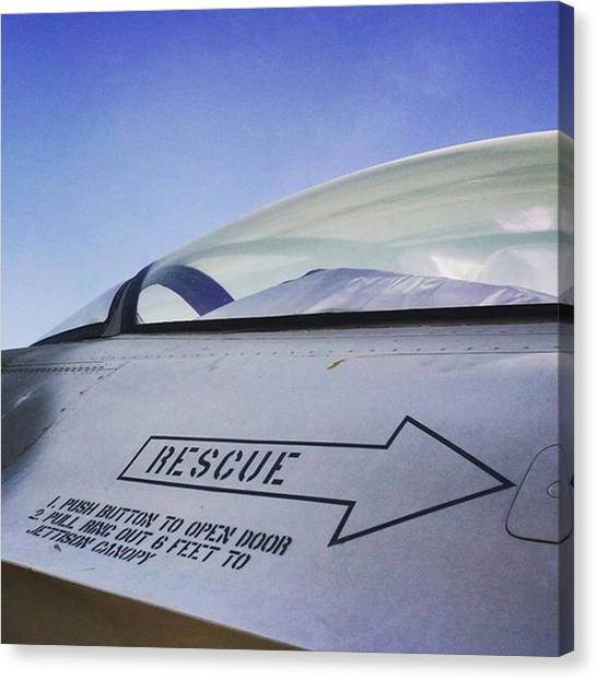F16 Canvas Print - Rescue Me. #dubai #mydubai #uae by Matthew Gilbert