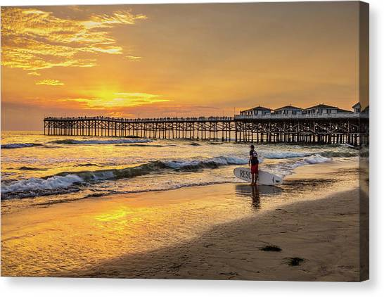 Surf Lifestyle Canvas Print - Rescue by Peter Tellone