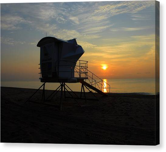 Rescue Tower Sunrise Canvas Print by Zachary Liaros