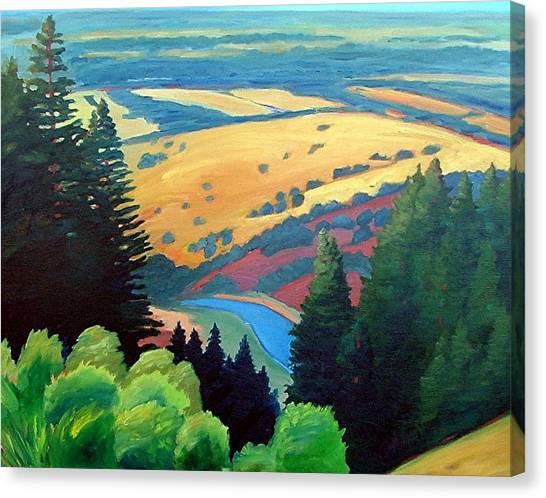 Reservoir Below Canvas Print