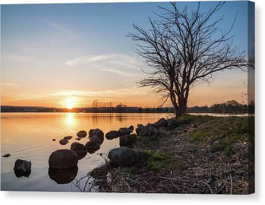 Reservoir Sunset Canvas Print