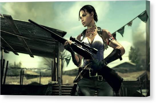 Resident Evil Canvas Print - Resident Evil 5 by Barbara Elvins