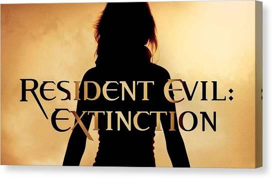 Resident Evil Canvas Print - Resident Evil Extinction by Barbara Elvins