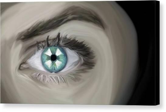 Resident Evil Canvas Print - Resident Evil Eye by Mone Ehlers