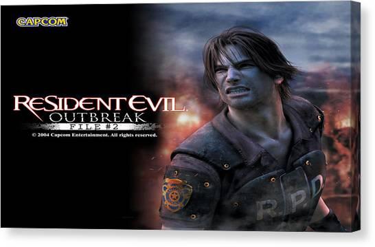 Resident Evil Canvas Print - Resident Evil Outbreak File #2 by Dorothy Binder
