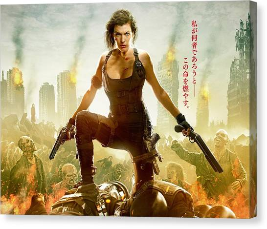 Resident Evil Canvas Print - Resident Evil The Final Chapter by Barbara Elvins