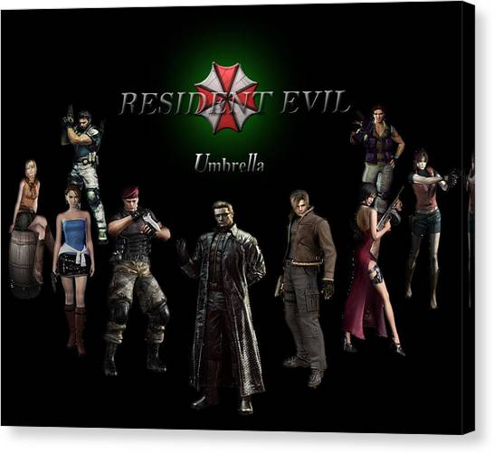 Resident Evil Canvas Print - Resident Evil by Zia Low
