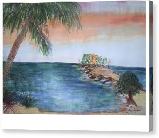 Resort The Keys Canvas Print by Hal Newhouser