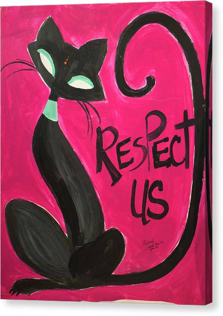 Elizabeth Warren Canvas Print - Respect Us by Jennifer Golubiewski