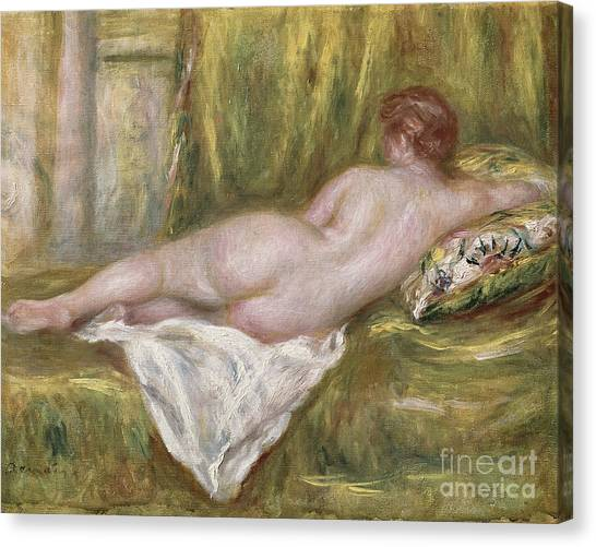 Woman Canvas Print - Rest After The Bath by Pierre Auguste Renoir