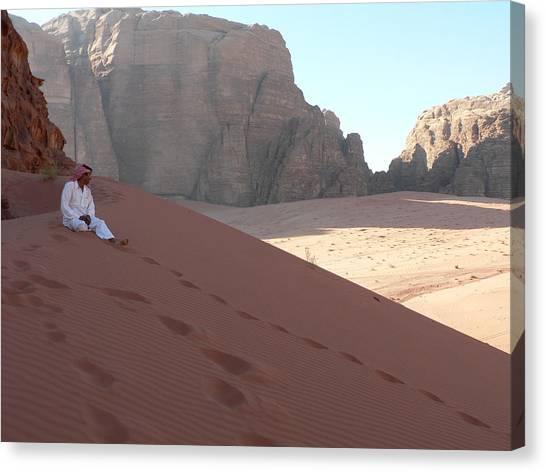 Rest At Wadi Rum Canvas Print by James Lukashenko