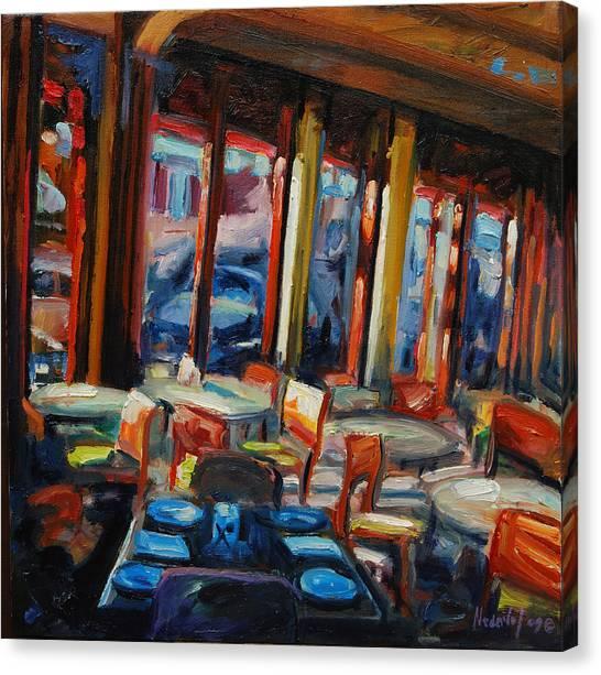 Restaurant On Columbus Canvas Print