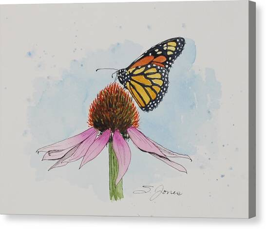 Resting Monarch Canvas Print