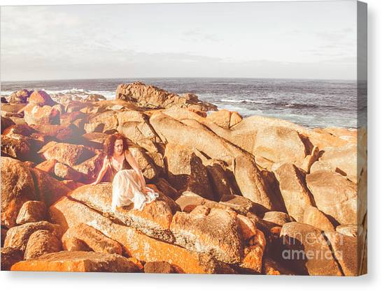 Casual Canvas Print - Resting On A Cliff Near The Ocean by Jorgo Photography - Wall Art Gallery