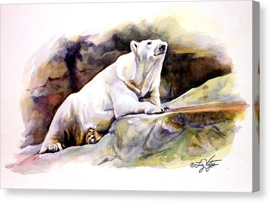 Resting Polar Bear Canvas Print