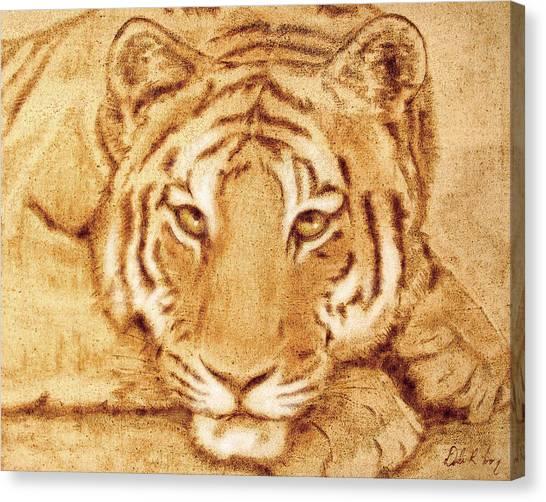 Resting Tiger Canvas Print
