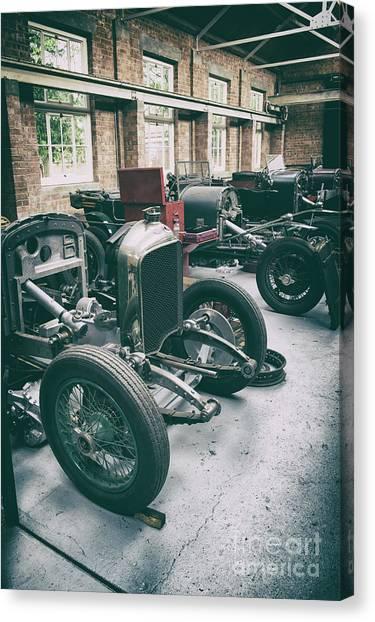 Brunch Canvas Print - Restoring Vintage Bentleys by Tim Gainey