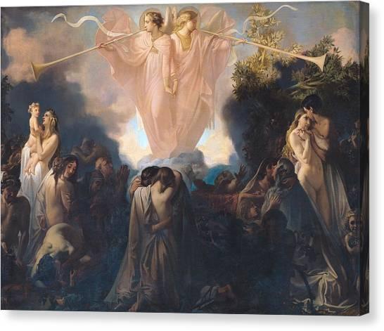 Cherub Canvas Print - Resurrection Of The Dead by Victor Mottez
