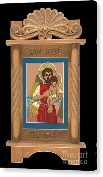 Canvas Print featuring the painting Retablo De San Jose Obrero by William Hart McNichols