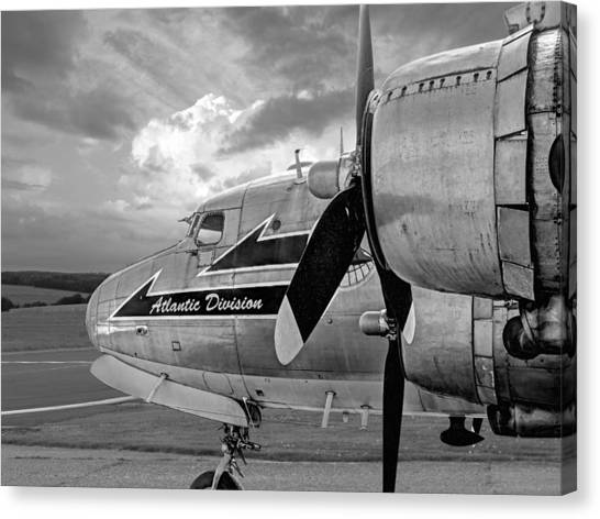 Atlantic Division Canvas Print - Retired - Black And White by Gill Billington