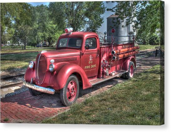 Retired Fire Chaser Canvas Print