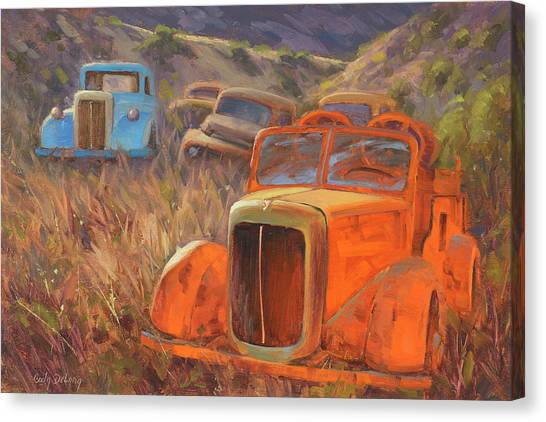 Old Trucks Canvas Print - Retired Fireman by Cody DeLong