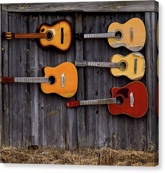 Retired Guitars  Canvas Print