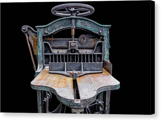 Retired Table Saw Canvas Print by Joseph Sassone