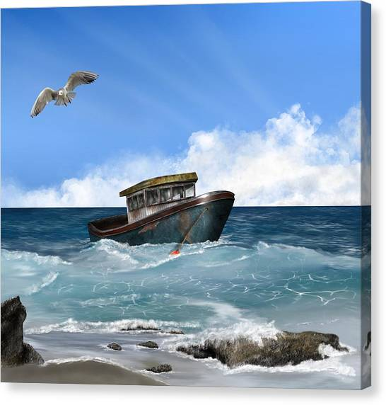 Retiring From The Fleet Canvas Print