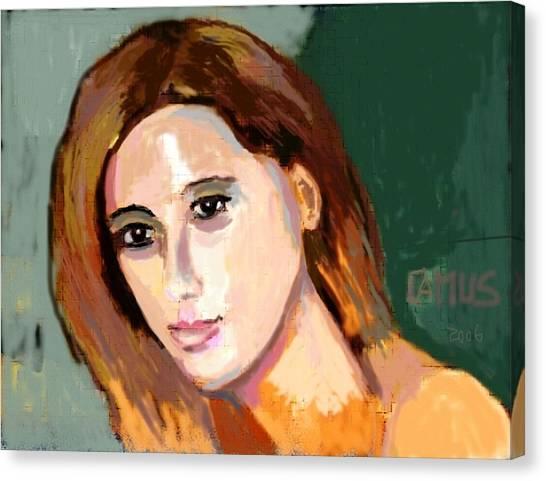 Retrato Patricia Canvas Print by Carlos Camus