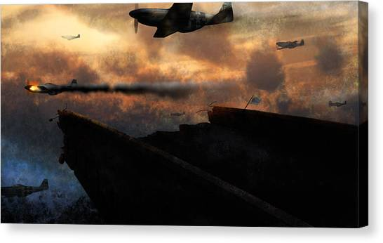 Prop Planes Canvas Print - Retreat by Ethan Harris