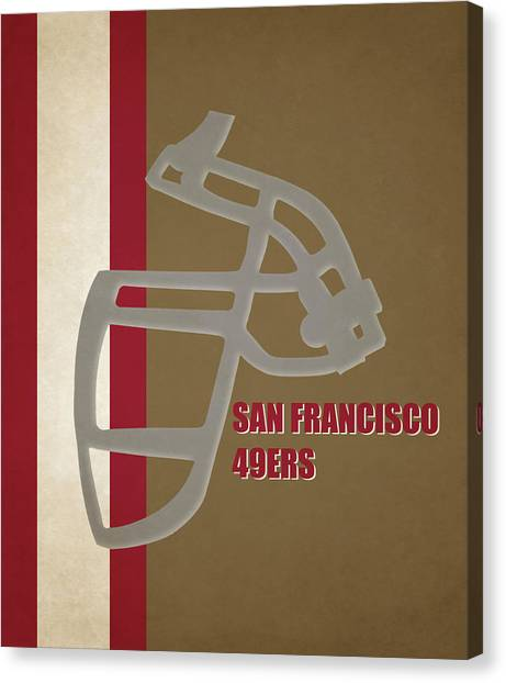 San Francisco 49ers Canvas Print - Retro 49ers Art by Joe Hamilton