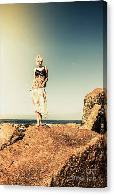 Young Adults Canvas Print - Retro Beach Fashions by Jorgo Photography - Wall Art Gallery